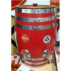 VINTAGE SODA BARREL DISPENSER