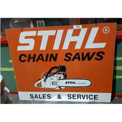 DEALERSHIP STIHL CHAINSAW SIGN DOUBLE SIDED