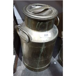 VINTAGE BRASS PLATED MILK CAN