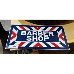 PORCELAIN BARBER SHOP SIGN