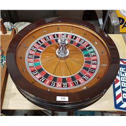 AUTHENTIC JOHN HUXLEY ROULETTE WHEEL