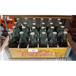 ORIGINAL 1940'S/1950'S COCA COLA WOODEN CRATE & FULL COKE BOTTLES