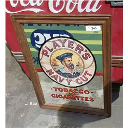 PLAYER'S TOBACCO ADVERTISING MIRROR