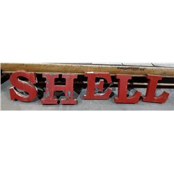 VINTAGE METAL SHELL LETTERS
