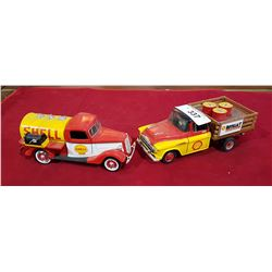 TWO COLLECTIBLE DIE CAST SHELL TRUCKS