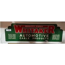 VINTAGE WHITAKER AUTOMOTIVE TIN SIGN