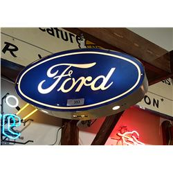 HANGING LIGHT UP FORD OVAL SIGN