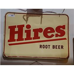 1963 HIRES ROOTBEER TIN SIGN