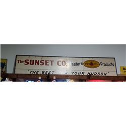 VINTAGE SUNSET CO.  GARAGE SIGN