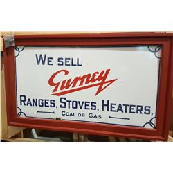 VINTAGE GURNEY PORCELAIN SIGN