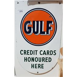 PORCELAIN GULF SIGN