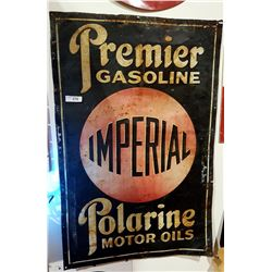 "EARLY IMPERIAL ""RED BALL"" GAS & OIL SIGN"