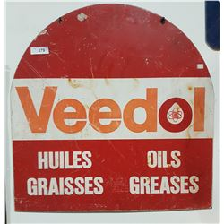 VINTAGE VIDOL OIL TOMBSTONE DOUBLE SIDED SIGN