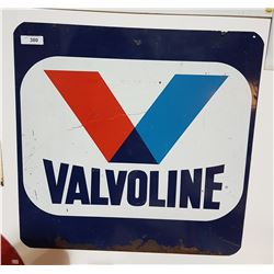 VINTAGE VALVOLINE OIL SIGN DOUBLE SIDED