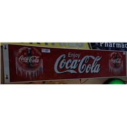 ORIGINAL COCA COLA COOLER SIGN