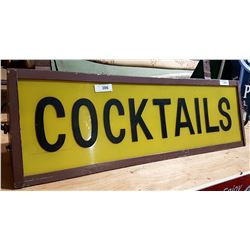 COCKTAILS HOTEL/BAR HANGING LIGHT UP SIGN