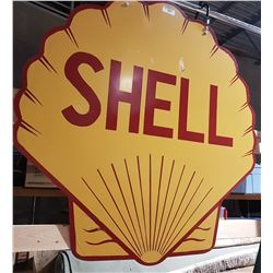 CUSTOM MADE HANGING SHELL SIGN DOUBLE SIGN