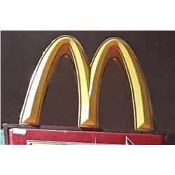 ORIGINAL MCDONALDS DRIVE THRU SIGN