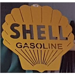 CUSTOM MADE SHELL GASOLINE SIGN