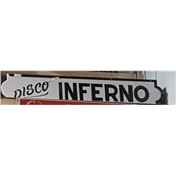 DISCO INFERNO LIGHT UP SIGN