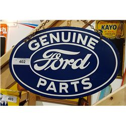 GENUINE FORD PARTS OVAL PORCELAIN SIGN