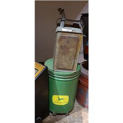TWO PCS-JOHN DEERE TIN & FUEL CAN