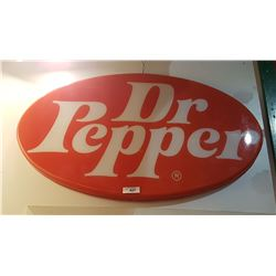 DR PEPPER PLASTIC OVAL SIGN