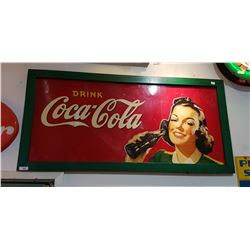ORIGINAL 1940'S COCA COLA TIN SIGN