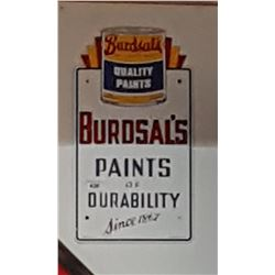VINTAGE BURDSAL'S PAINTS PORCELAIN SIGN