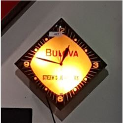 VINTAGE BULOVA BUBBLE GLASS CLOCK