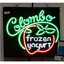 COLUMBO FROZEN YOGURT NEON SIGN