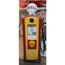1950's BENNETT SHELL GAS PUMP