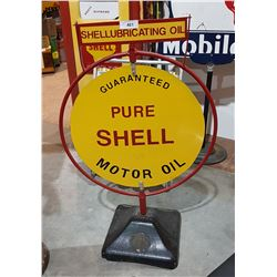 CUSTOM MADE SHELL MOTOR OIL CURB SIGN DOUBLE SIDED