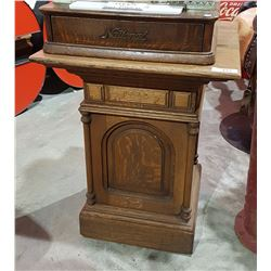 ANTIQUE OAK PEDESTAL