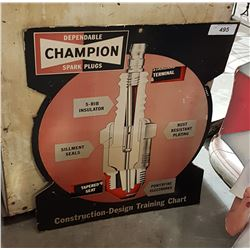 CHAMPION SPARK PLUG CARDBOARD DISPLAY