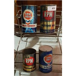 FOUR RPM OIL QUARTS
