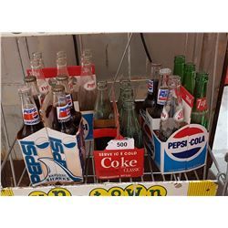 PEPSI & COKE CARDBOARD CARRIERS WITH BOTTLES