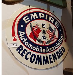 VINTAGE EMPIRE AUTOMOBILE ASSOC. SIGN DOUBLE SIDED