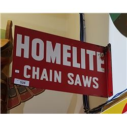 VINTAGE HOMELITE CHAINSAW FLANGE SIGN