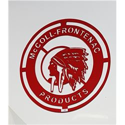 CUSTOM MADE STEEL MCCOLL FRONTENAC SIGN