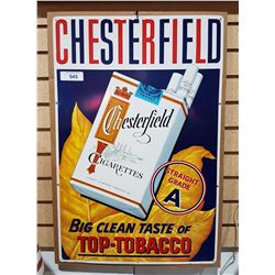 VINTAGE CHESTERFIELD TOBACCO TIN SIGN