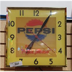 VINTAGE BUBBLE GLASS PEPSI CLOCK