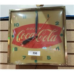 VINTAGE COCA COLA BUBBLE GLASS CLOCK