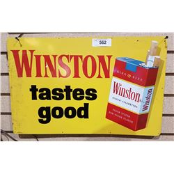 VINTAGE WINSTON CIGARETTE TIN SIGN
