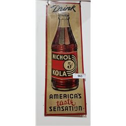 VINTAGE NICHOL KOLA TIN SIGN