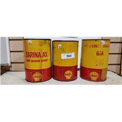 THREE SHELL GREASE TINS