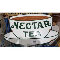 VINTAGE PORCELAIN NECTAR TEA SIGN