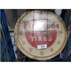 VINTAGE FIRESTONE TIRES CLOCK