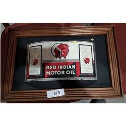FRAMED ORIGINAL RED INDIAN OIL QUART