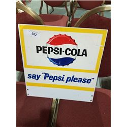 ORIGINAL PEPSI COLA DOUBLE SIDED SIGN